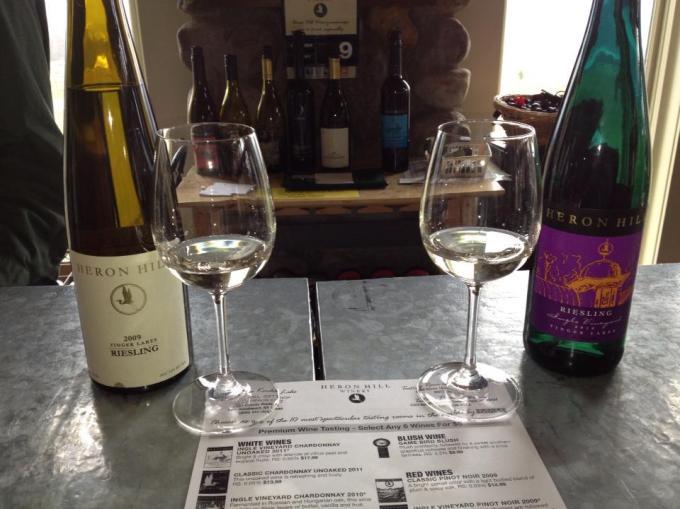 Side-by-side Riesling tasting