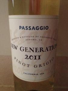 2011 Passaggio New Generation Pinot Grigio