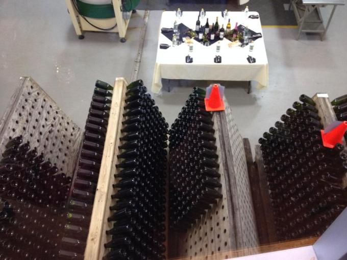 Racked sparkling wines