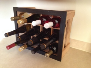 My ThinkEco² Black-Framed Wine Rack