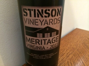 2011 Stinson Vineyard Meritage