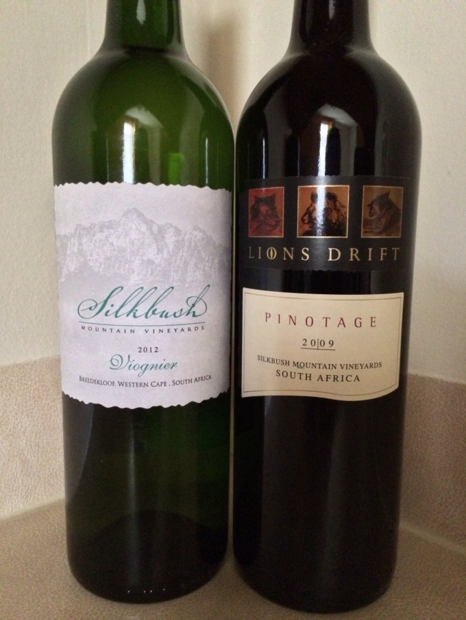 2012 Silkbush Mountain Vineyards Viognier and 2009 Lion's Drift Pinotage