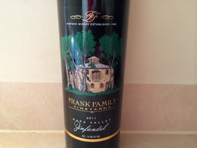 2011 Frank Family Vineyards Zinfandel, Napa Valley