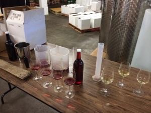 Wine blending at Passaggio Wines