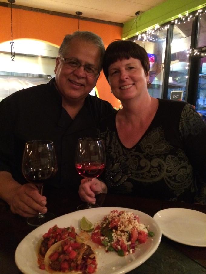 Photo op with Owner-Chef Eduardo Posada