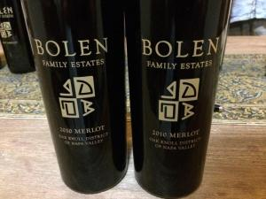 The newest additions to my vertical: 2010 Bolen Family Estates Merlot!