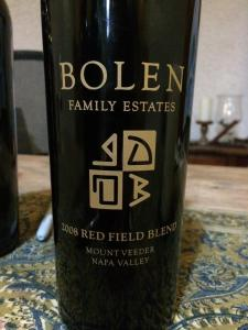 2008 Bolen Family Estates Red Field Blend, Mt. Veeder