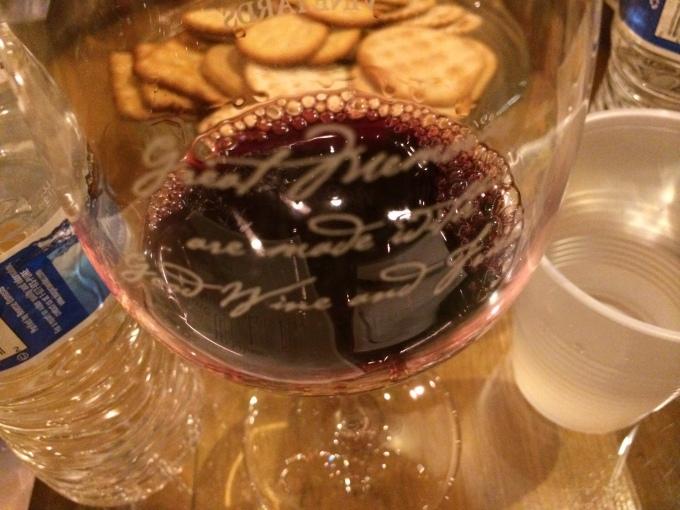Tasting Cabernet Sauvignon at McGrail Vineyards