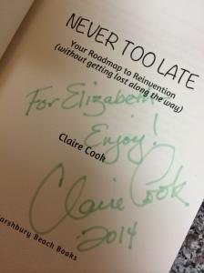 Claire Cook's autograph
