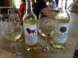 Side-by-side Galer Chardonnay tasting