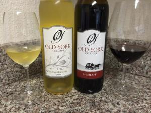 Old York Cellars Oaked Chardonnay 2012 and Merlot 2013