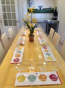 A Tasting Table at VGS Chateau Potelle