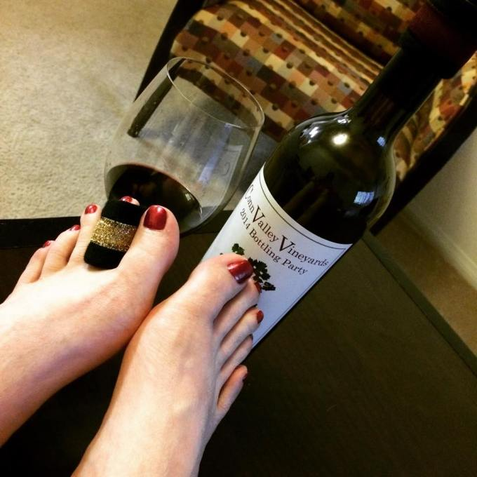 Anderson's Conn Valley Vineyards Estate Reserve Cabernet 2012 (Bottling Party Label) paired with DripTeez and OPI's The One That Got Away