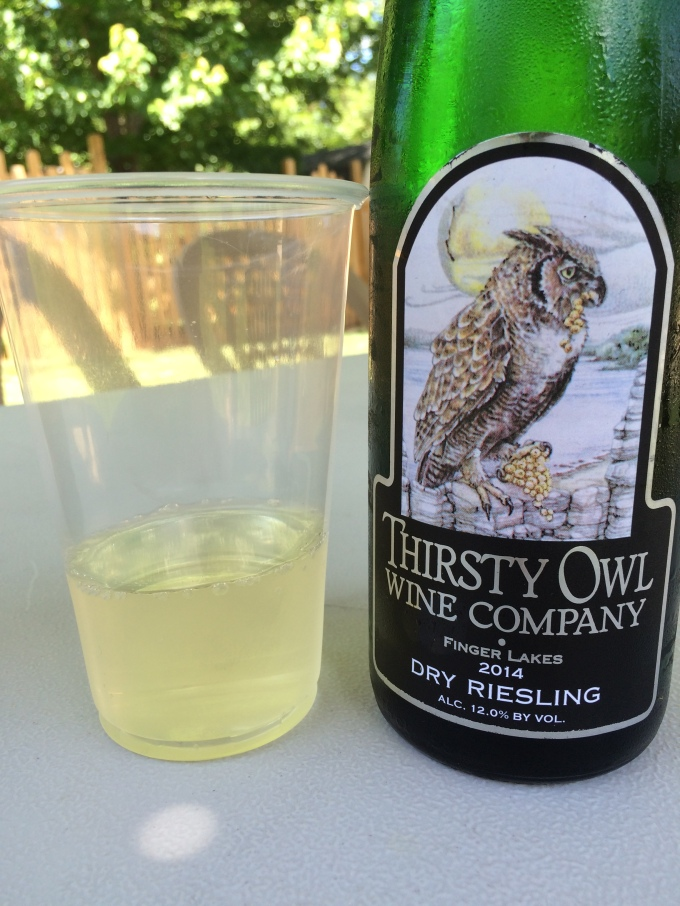 Thirsty Owl Wine Company Finger Lakes Dry Riesling 2014