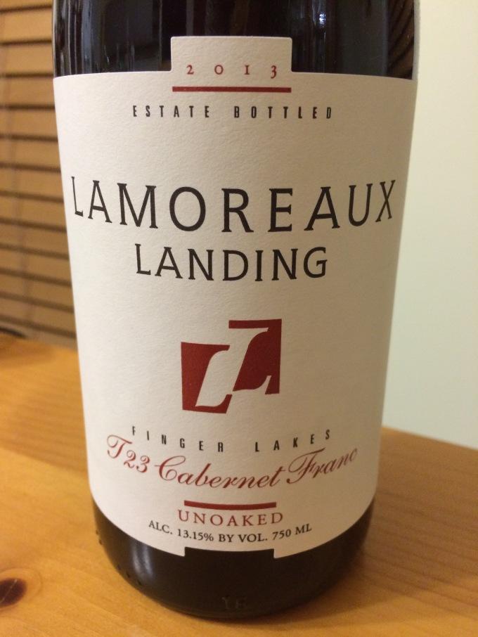 Lamoreaux Landing Finger Lakes T23 Cabernet Franc 2013