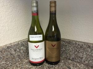 My pair of Villa Maria Sauvignon Blanc wines