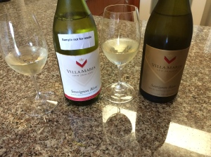 Side-by-side tasting of Villa Maria Sauvignon Blanc