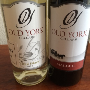 Old York Cellars 2014 Vidal Blanc and 2014 Malbec
