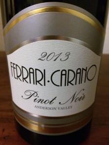 2013 Ferrari Carano Pinot Noir, Anderson Valley
