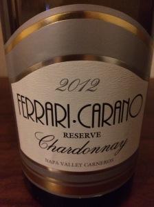 2012 Ferrari Carano Reserve Chardonnay, Napa Valley Carneros