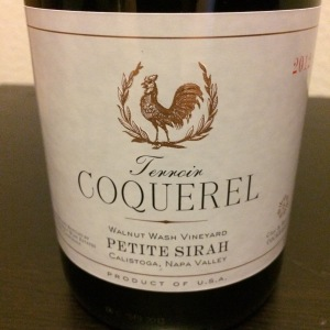 2012 Coquerel Petite Sirah, Walnut Wash Vineyard, Calistoga