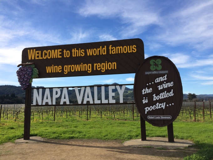 Welcome to the Napa Valley!