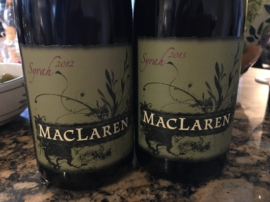 The 2012 and 2013 MacLaren Atoosa's Vineyard Syrahs