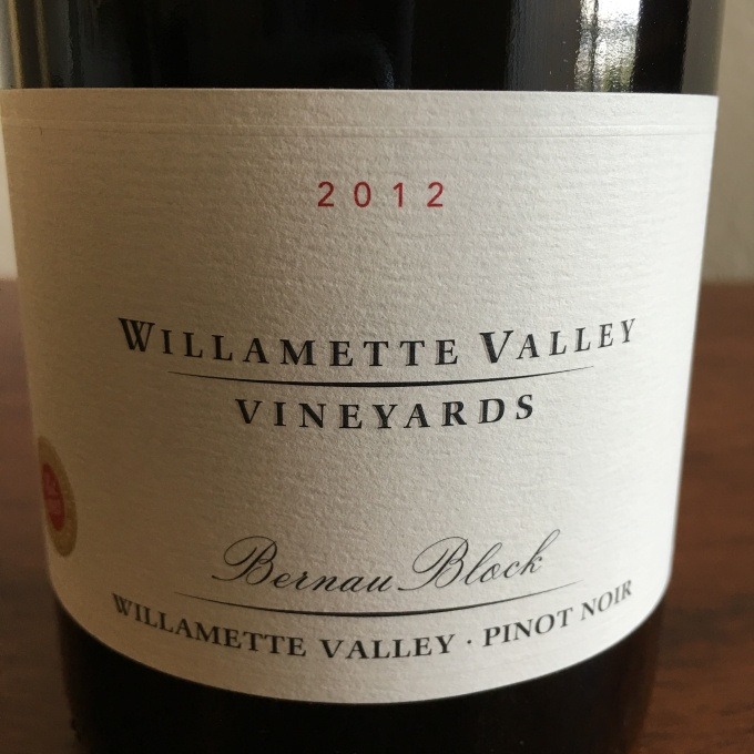 Willamette Valley Vineyards Pinot Noir Bernau Block 2012, Willamette Valley