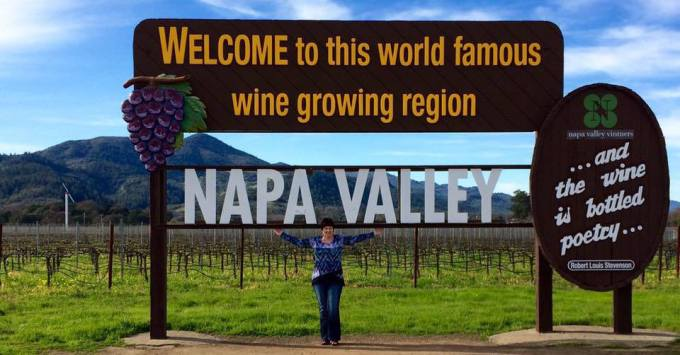 My current destination, the Napa Valley