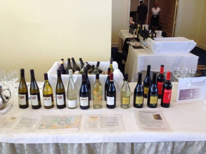 Pouring Foris and Graziano wines at the Masciarelli show in Boston, MA