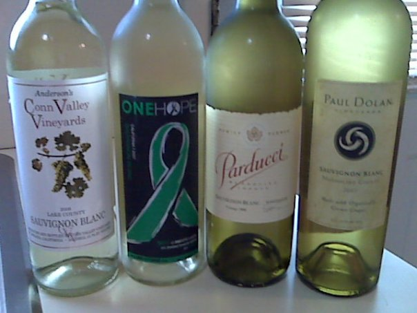 My first #SauvBlanc Day Twitter tasting: March 4, 2010