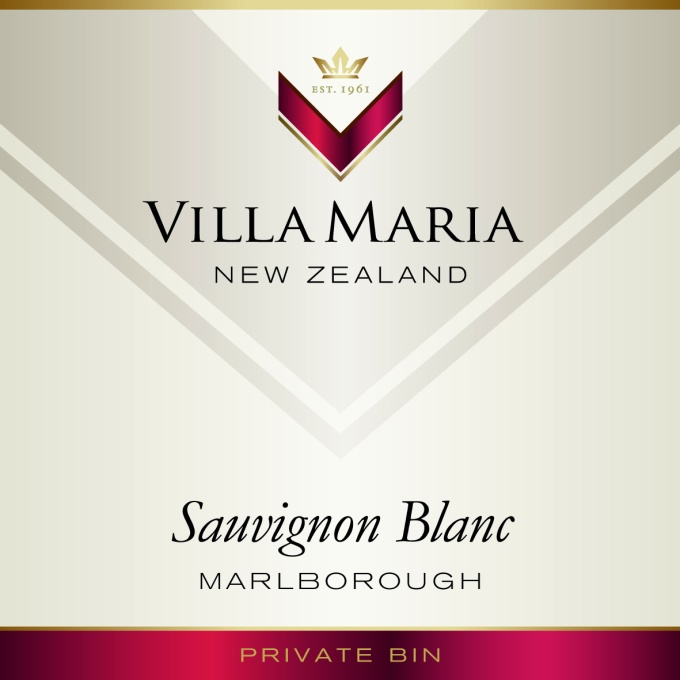 Villa Maria's Sauvignon Blanc Label ((photo courtesy of Villa Maria)
