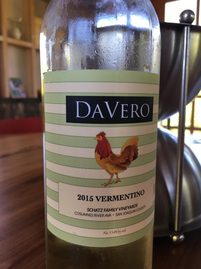 2015 DaVero Vermentino, Schatz Family Vineyard in the Cosumnes River AVA, San Joaquin County