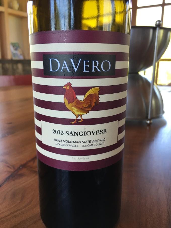 2013 DaVero Sangiovese, Hawk Mountain Vineyard, Dry Creek Valley, Sonoma County