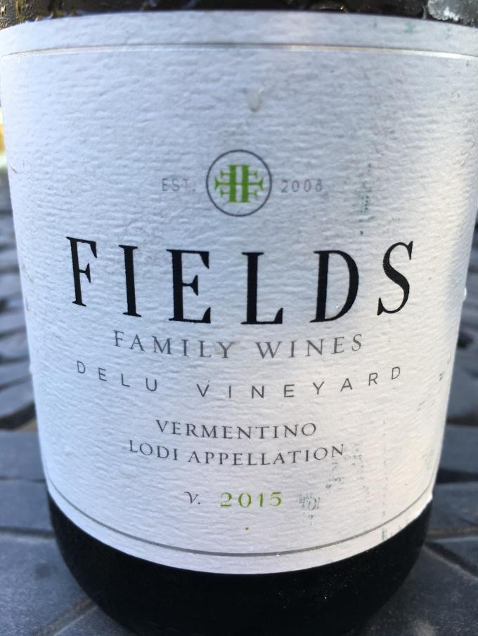 2015 Fields Family Vermentino, Delu Vineyard, Lodi Appellation